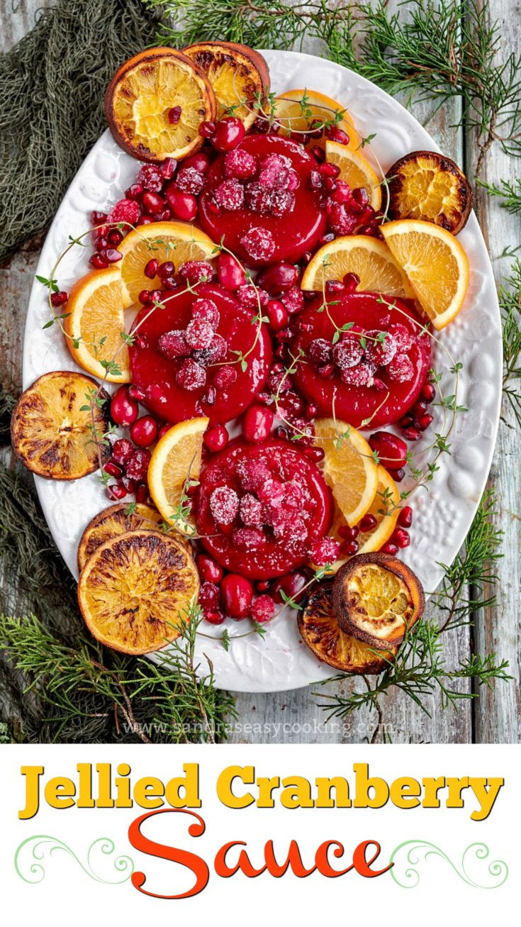 Jellied Cranberry Sauce - Must have a Thanksgiving side dish!