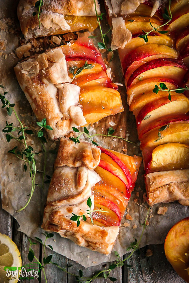 Peach Tart with Lemon Thyme
