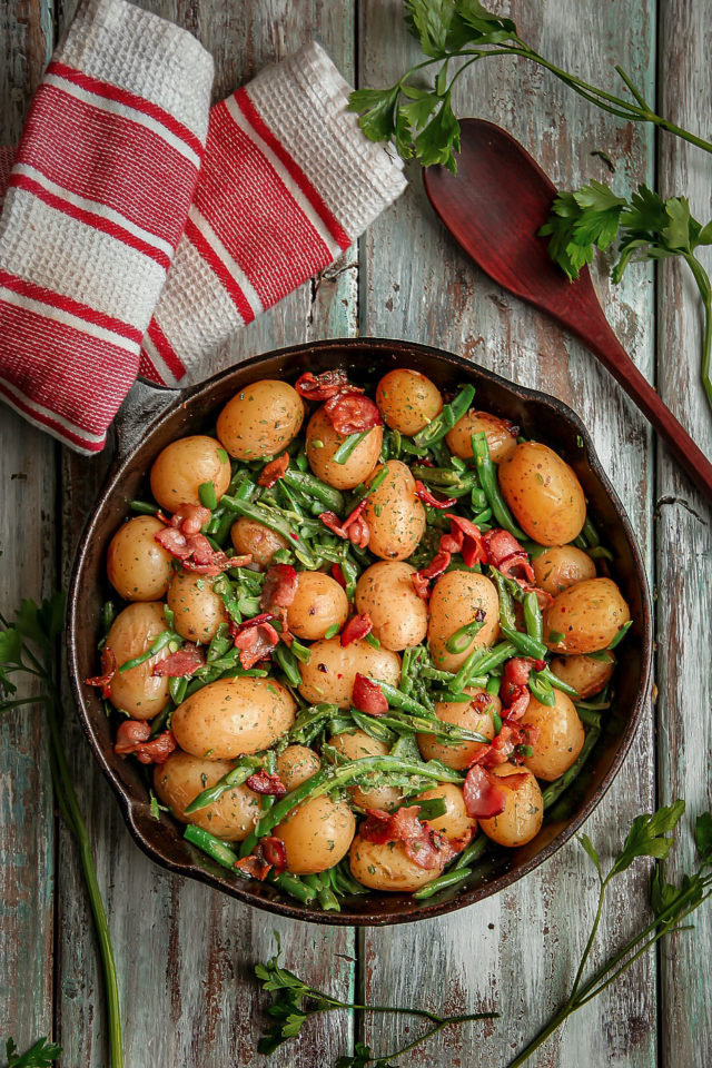 Southern Green beans and New Potatoes with Bacon Recipe