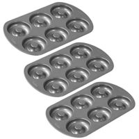 Wilton Nonstick 6-Cavity Donut Pan (3 Pack)
