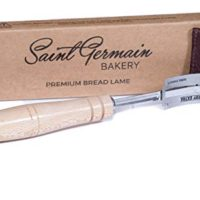 SAINT GERMAIN Premium Hand Crafted Bread Lame with 6 Blades Included - Best Dough Scoring Tool with Authentic Leather Protective Cover