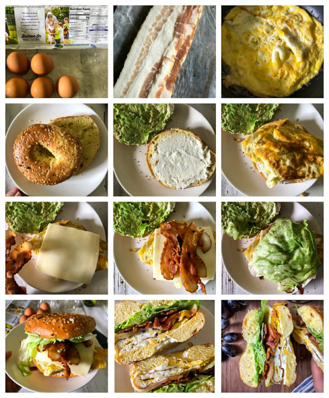 Brunch Bagel Sandwich