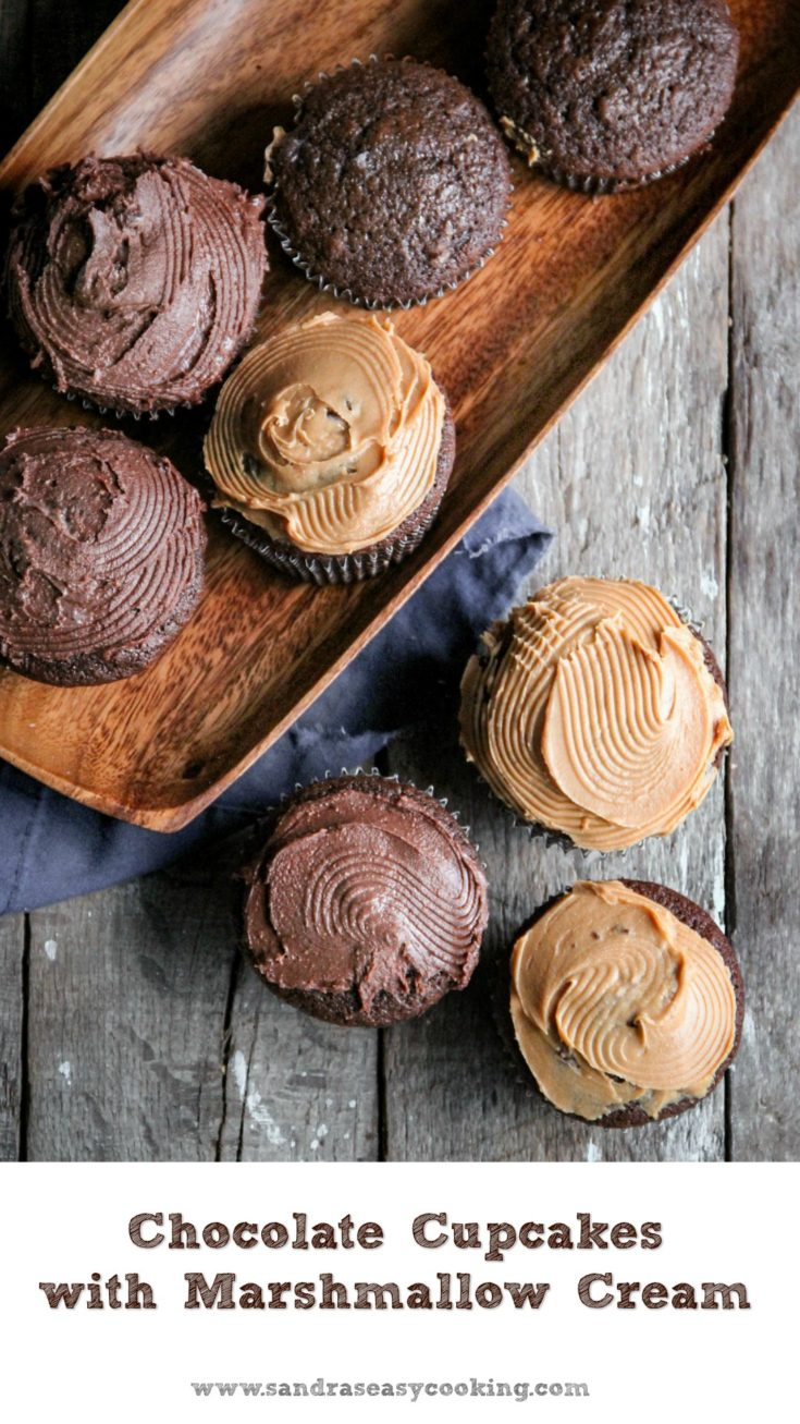 Simple, Tasty and Easy Chocolate Cupcakes with Marshmallow Cream