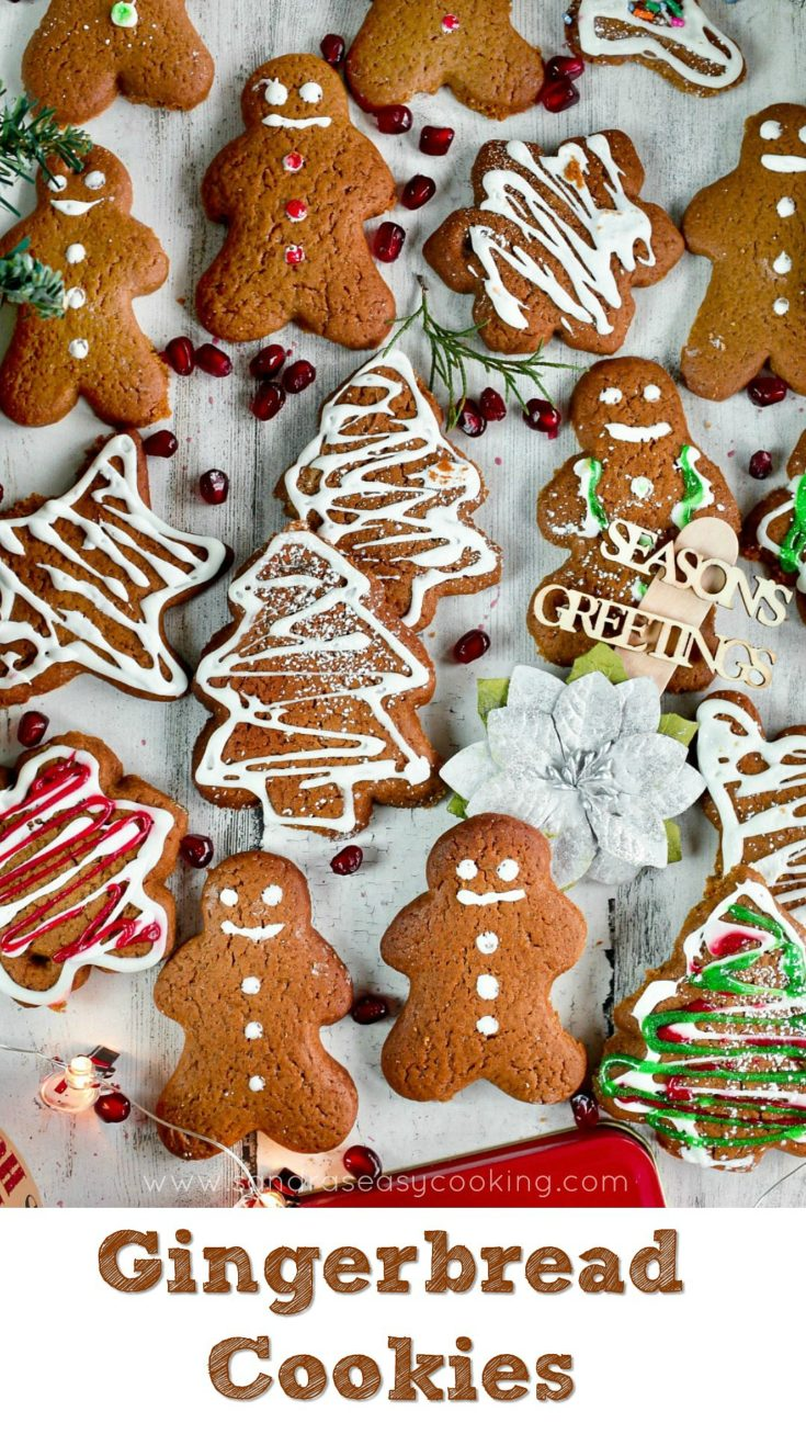Gingerbread cookies are the most popular cookies during the holiday Xmas season
