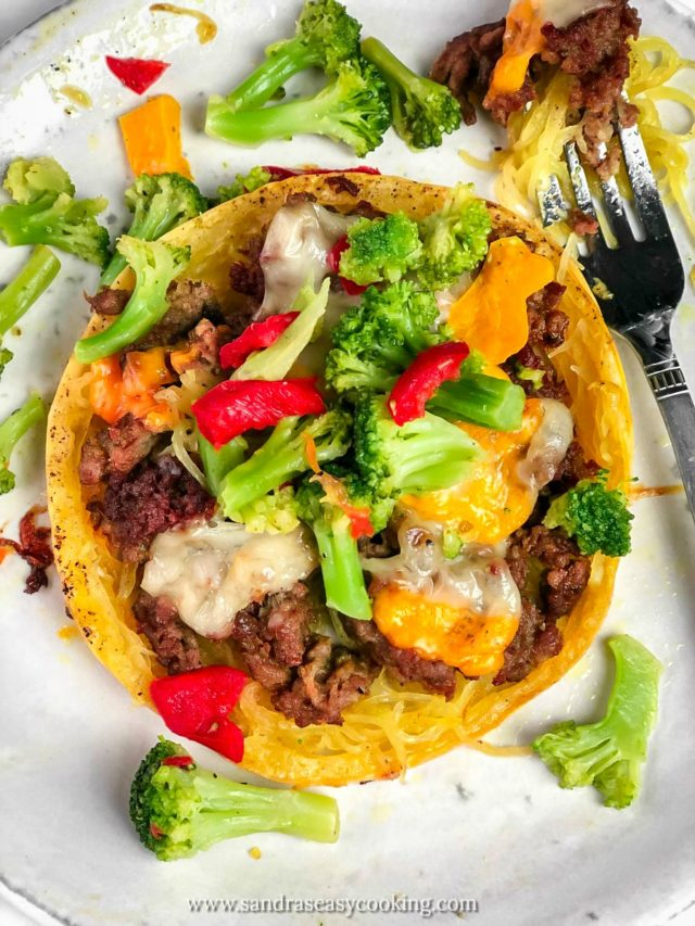 Ground Beef Stuffed Spaghetti Squash