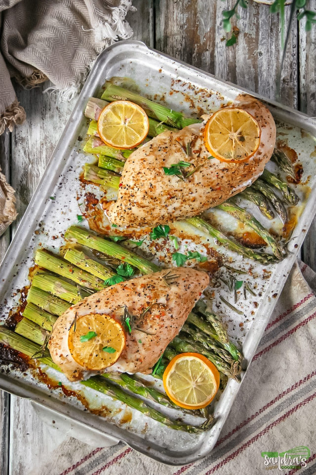 Lemon Herb Chicken and Veggies Sheet Pan