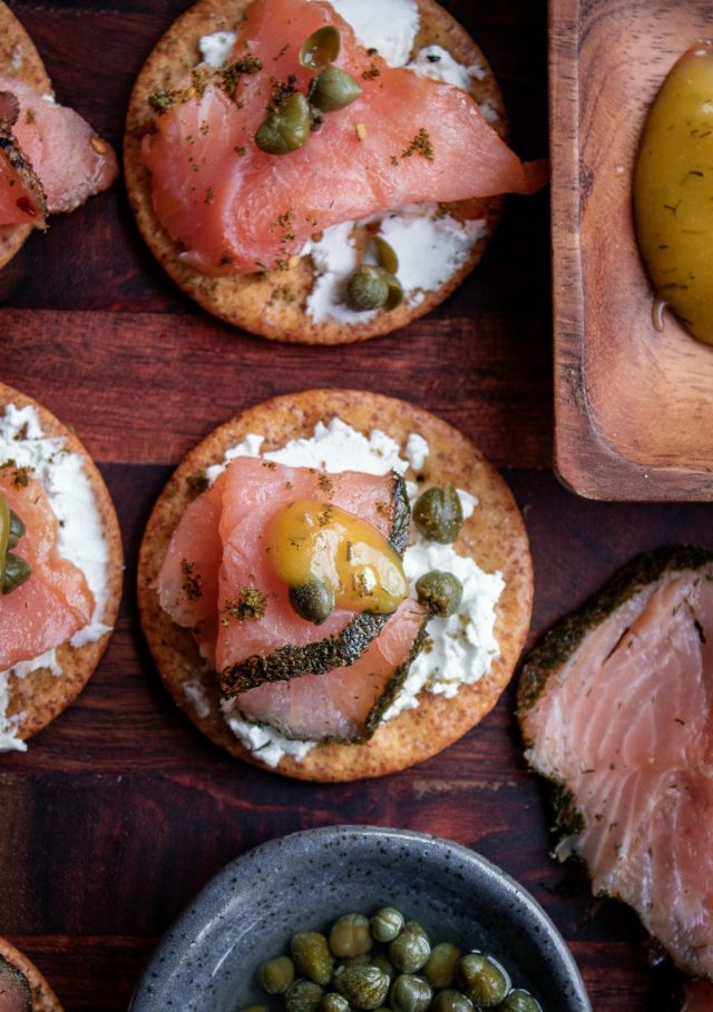 Smoked Salmon Goat Cheese Appetizers