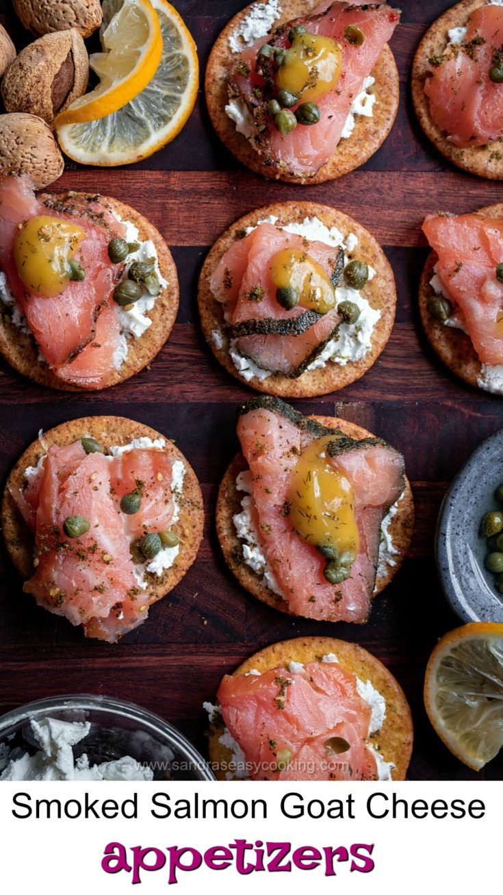 Smoked Salmon Goat Cheese Appetizers are perfect bites to serve over joyous holidays. However, in my humble opinion, these are divine perfection all year round.