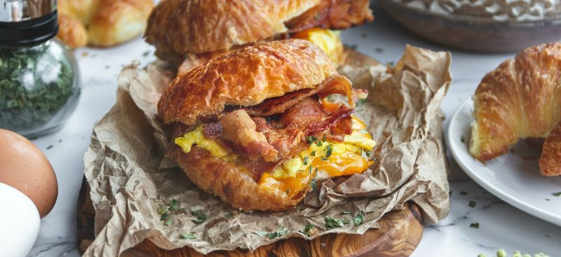 Bacon Eggs and Cheese Croissant Sandwiches