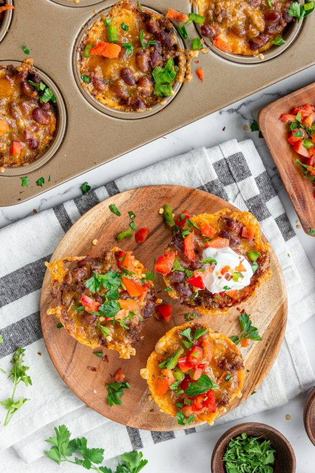 Recipe for easy Beef Chili Cups