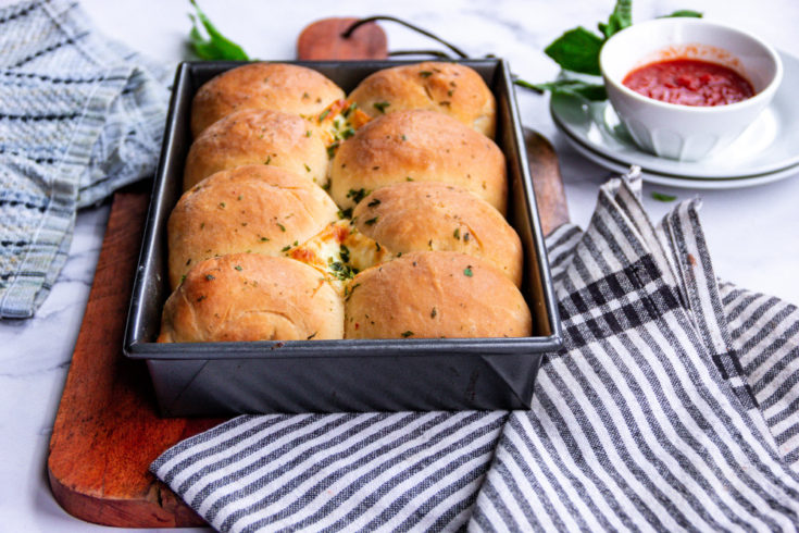 Cheese Stuffed Dinner Rolls