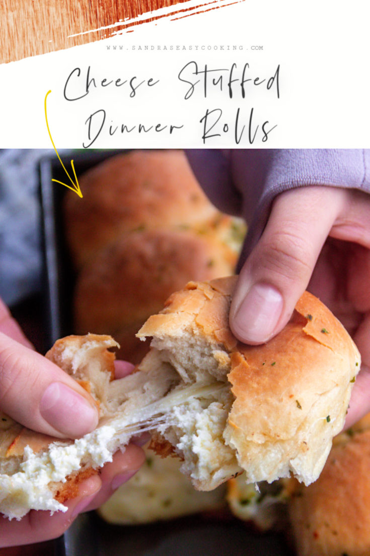 Cheese Stuffed Dinner Rolls Recipe