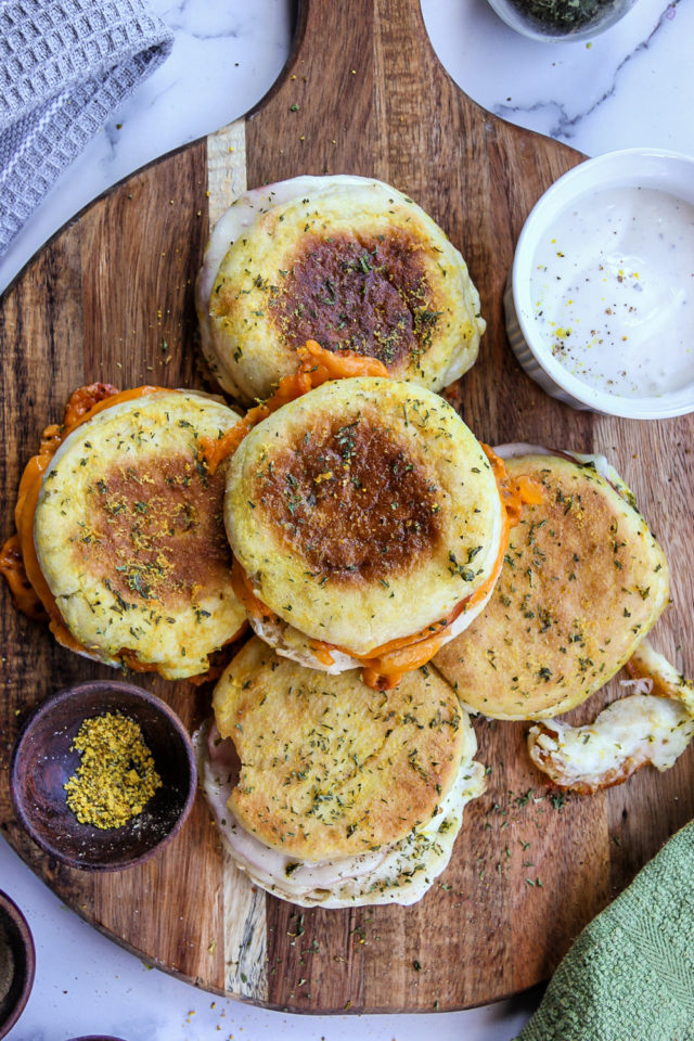 English Muffin Baked Sandwiches