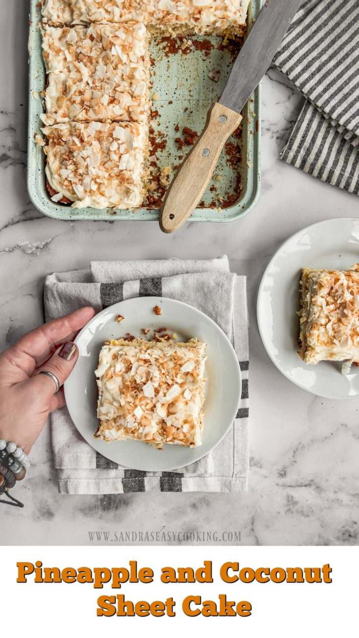 Pineapple and Coconut Sheet Cake Recipe
