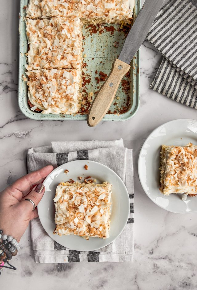 Pineapple and Coconut Sheet Cake