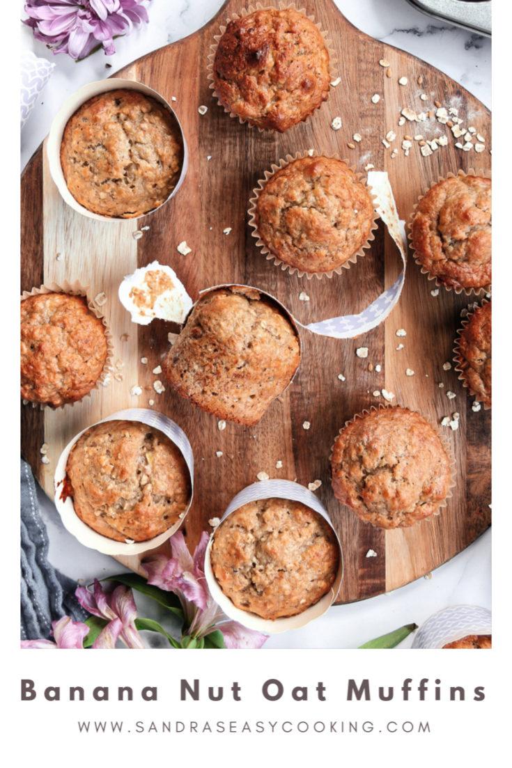 Banana Nut Oat Muffins Recipe