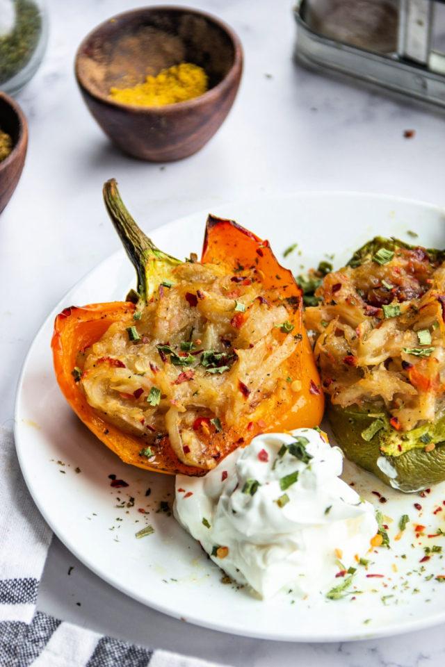 Potato Stuffed Peppers