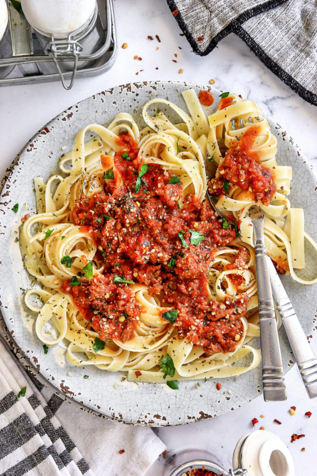 Quick and Easy Pasta with Beef Sauce