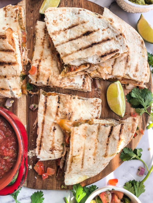 Tex Mex Grilled Tofu Quesadillas
