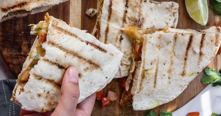 Tex-Mex Grilled Tofu Quesadillas