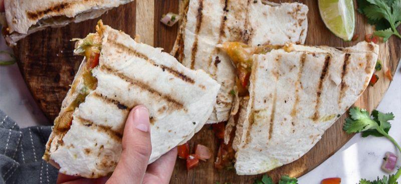 Tex-Mex Grilled Tofu Quesadillas