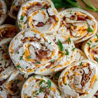 Chicken and Bacon Tortilla Pinwheels